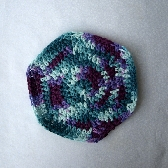 Eggplant and Sage Cotton Wash Cloth wc025