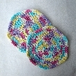 Thick Cotton Colorful  Washcloth Set of Two wc023