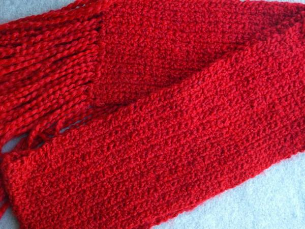 Cherry Red Soft Winter Scarf   cs0118