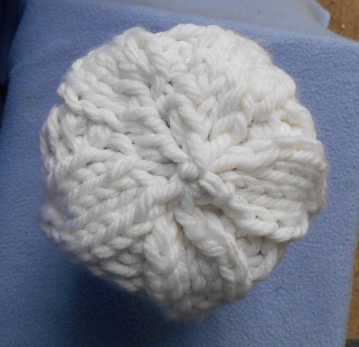 Cozy White Bulky Knit Winter Hat