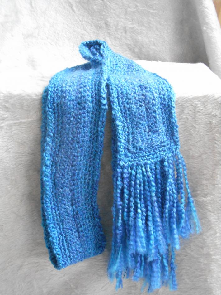 Beautiful Blue Soft and Warm Winter Scarf