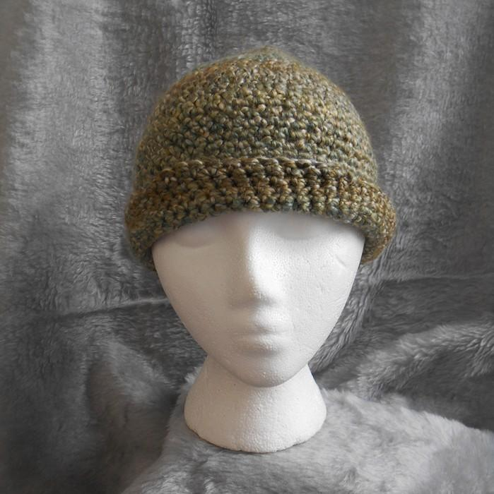 Soft and Warm Winter Hat in Meadow Greens