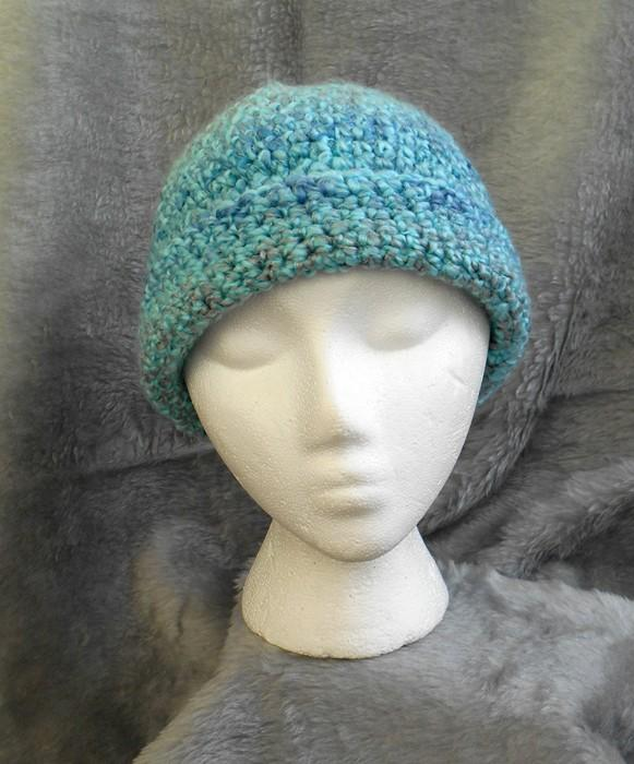 Caribbean Blue Waterfall Winter Hat