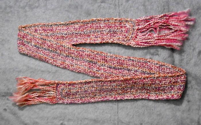 Colorful Pink Purple Butterscotch Winter Scarf