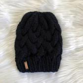 Cable Knit Hat  Black