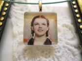 Wizard of OZ Dorothy Square Glass Tile Top Choker Pendant