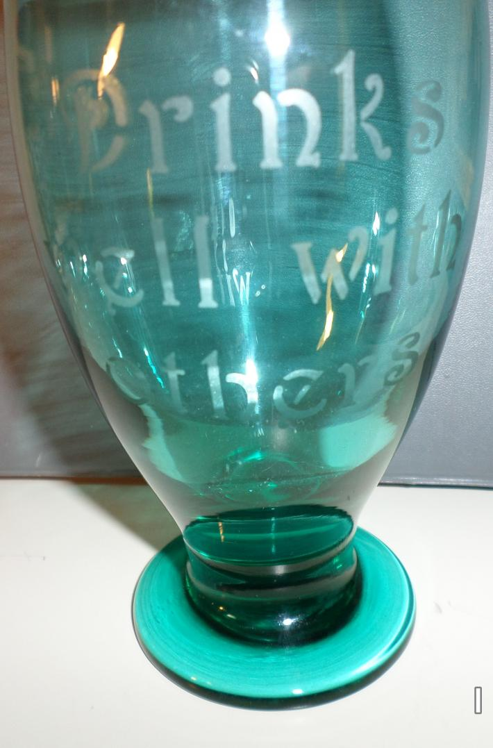 Set of Etched Wine Glasses