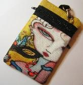 Masquerade Ball Art Print Cell Phone Bag by Brenda Miller