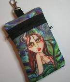 Oceans Blue Mermaid Art Print Cell Phone Bag by Brenda Miller Oceans Blue Mermaid Art Print Cell Phone Bag by Brenda Miller