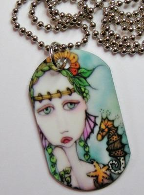 Mermaids and Seahorse Necklace