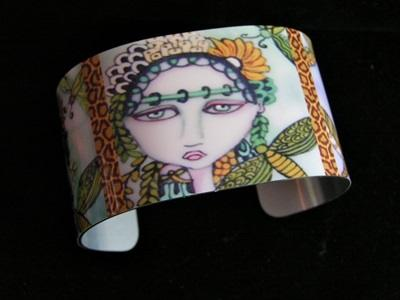 Fairies and Dragonflies Cuff Bracelet