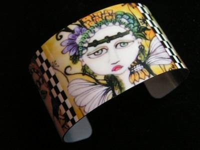 Moonflower Fairies Cuff Bracelet