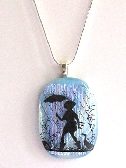 Spring Showers Fused Dichroic Glass with Sterling Silver