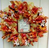 Wreath Deco Mesh Fall Autumn Harvest