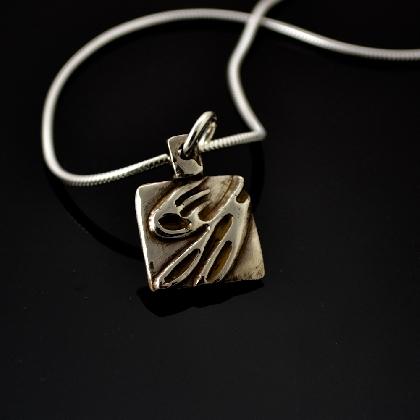 Square but Cool Fine Silver Pendant
