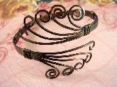 Bronze Wire Bracelet Vintage Bronze Adjustable FREE SHIPPING  USA