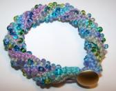 Monet Handmade Beaded Crochet Multicolored Bracelet Made in the USA