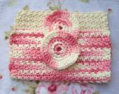 Ivory and Pink Soft Cotton Towelettes Facial Wash Cloths and Scrubbers Bath and Body Spa Products