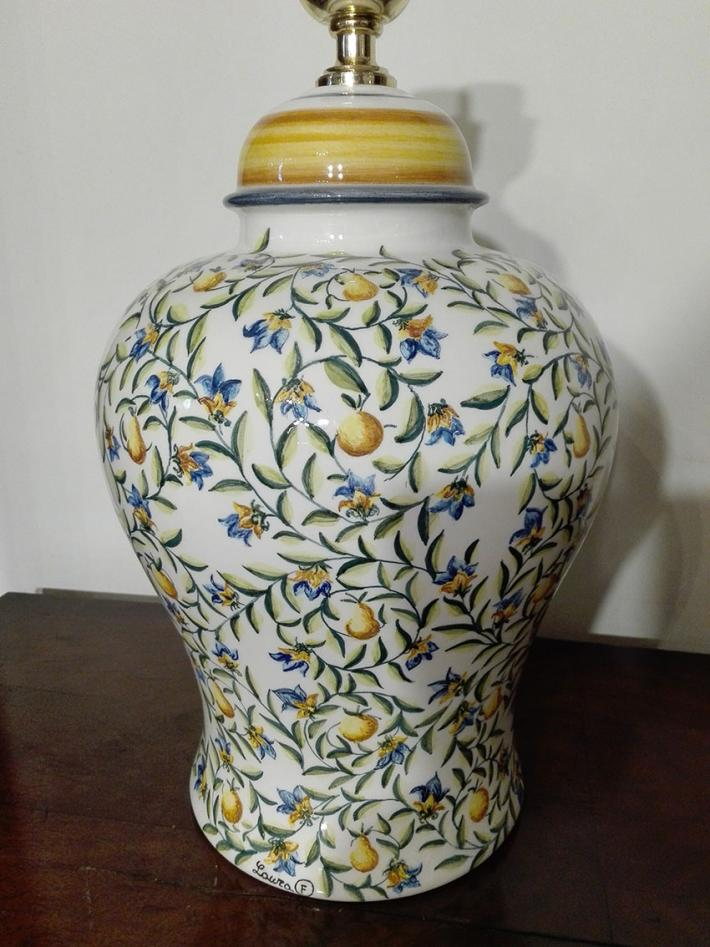 HAND PAINTED BASE OF LAMP ITALIAN TRADITION