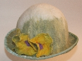 Spring is coming Hat OOAK wool hand felted natural fiber eco green easter day