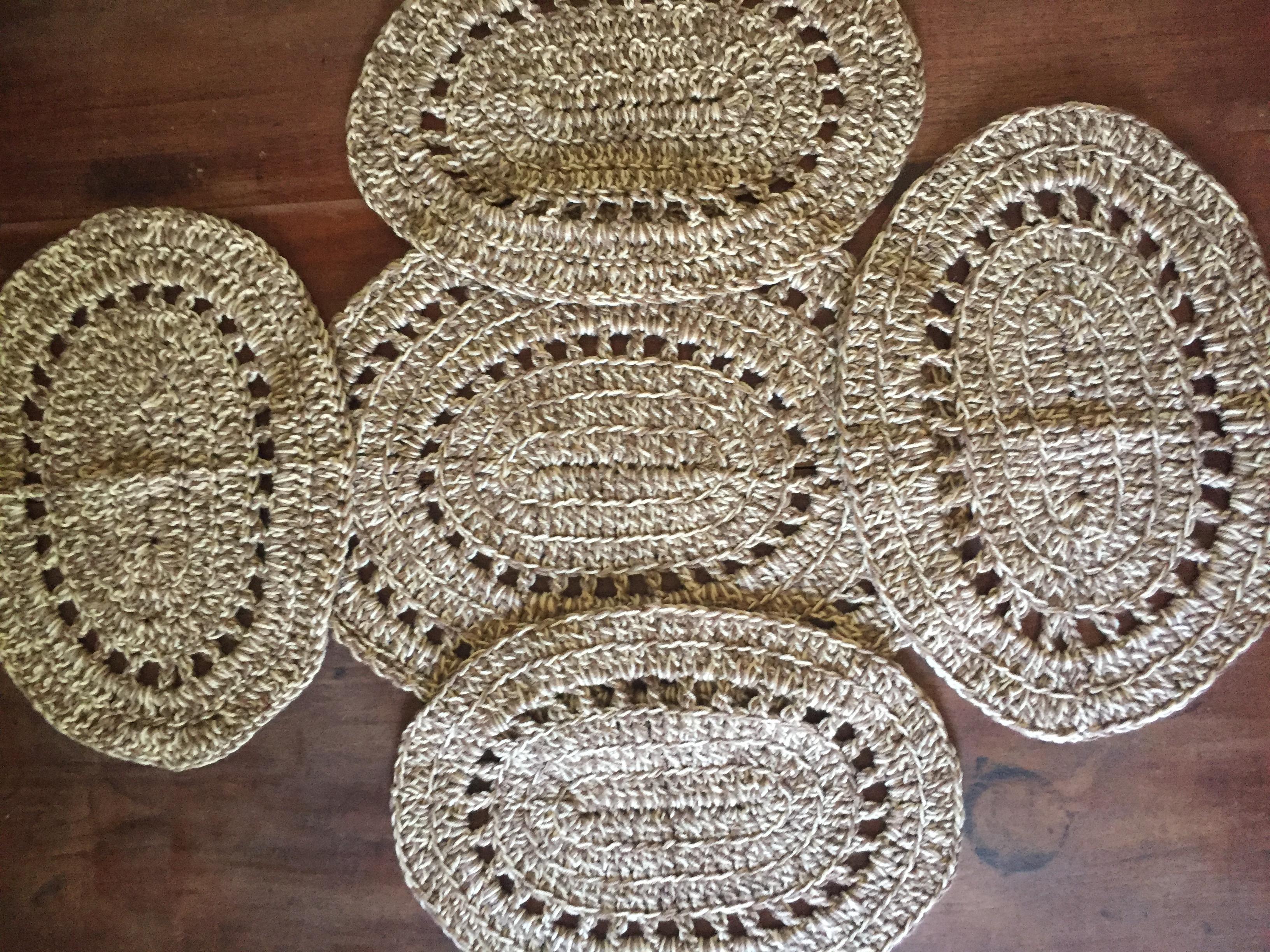 Crochet Placemats On Handmade Artists Shop