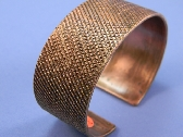 Heavy Machine Turned Copper Cuff