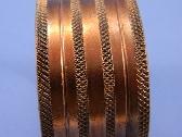 Wide Machine Turned Copper Cuff