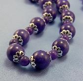 Purple Jasper and Amethyst Bead Necklace