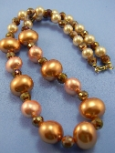 Gold and Cream Pearl Necklace