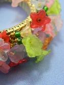 Handmade Lucite Flower Stretch Bracelet
