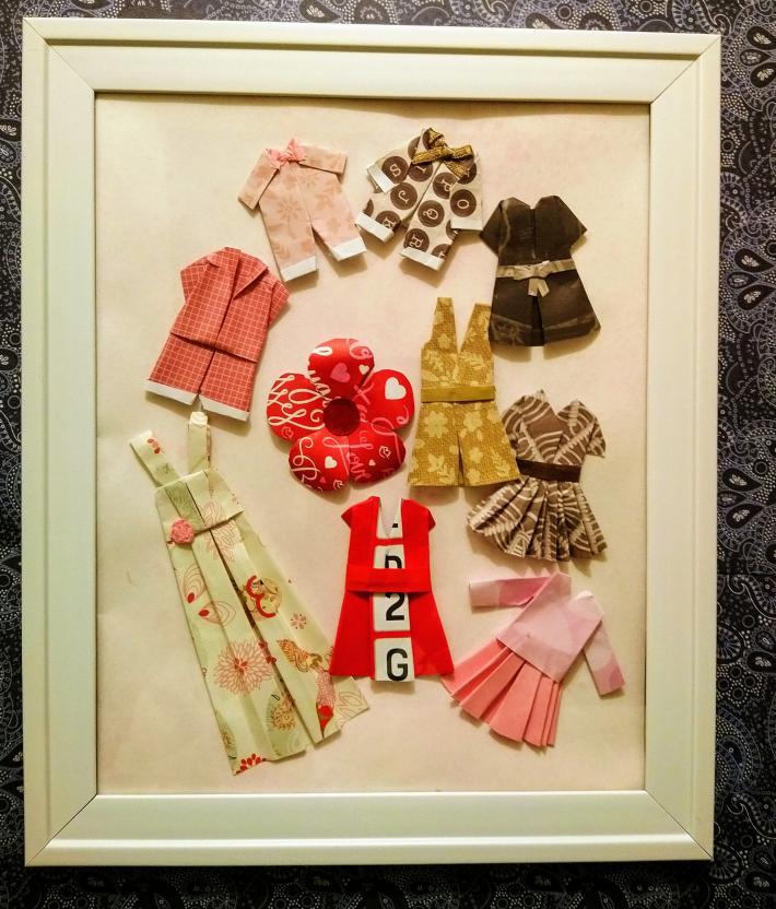 Cute origami clothes