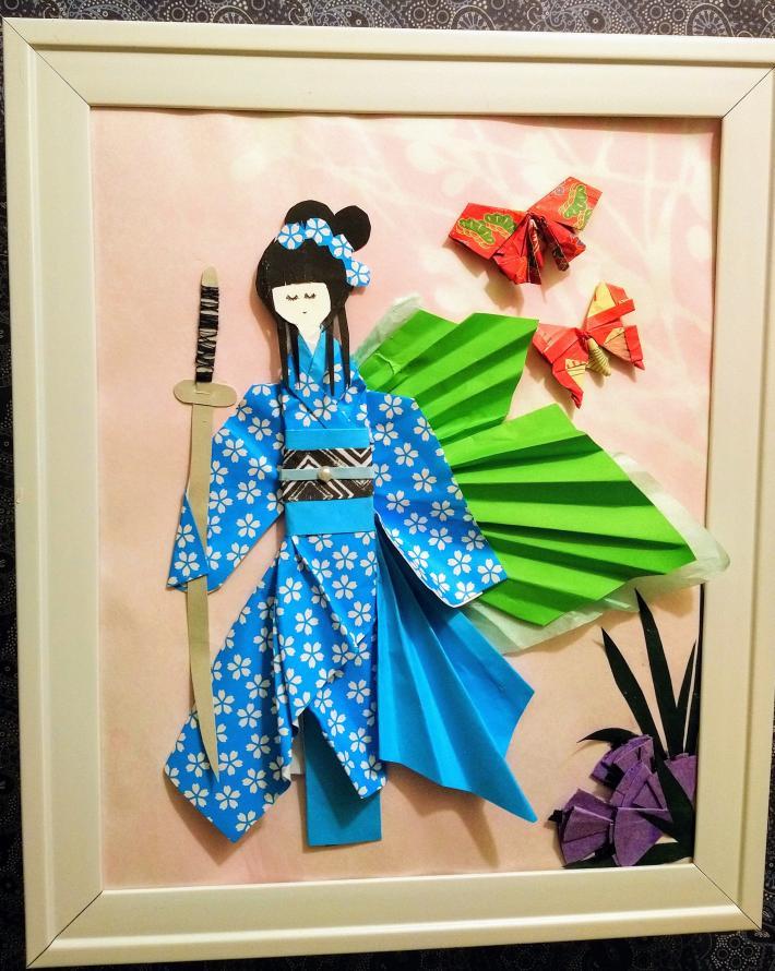 Japanese doll origami art