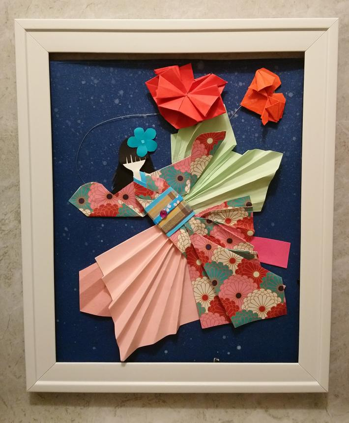 Japanese doll origami art