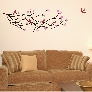Wall Decal Cherry Blossom Branch with 5 Birds