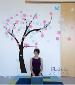 Nursery Wall Decal Tree in the Wind with Falling Blossom