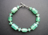Spring Green Glass Bracelet