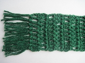 Forest Green Cotton Scarf soft USA grown cotton