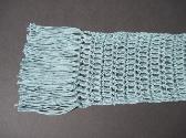 Sea Green Cashmere Silk and Cotton Scarf