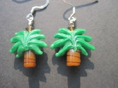 Glass Palm Tree Earrings