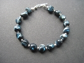 Iridescent Shell and Sterling Bracelet
