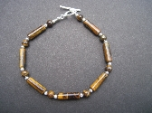Tigereye and Sterling Silver Bracelet
