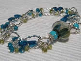 Waterlily Artisan Glass Bracelet