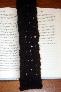Dark Brown Knit Book Mark