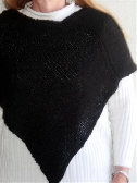 True Black Alpaca Poncho