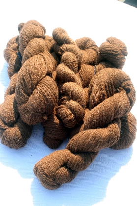 Elviras Ultra Fine Luscious Brown Yarn