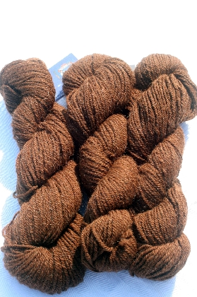 Callies Fine Glowing Rich Brown Yarn