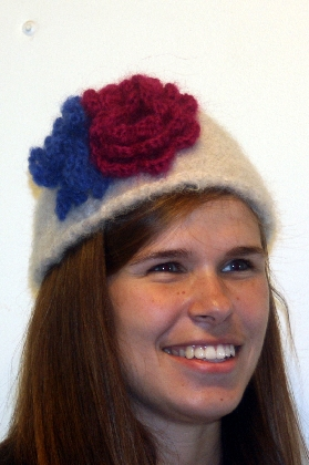 Handknit  And  Felted Hat