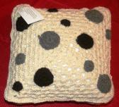 3 Hawk Alpacas Hand Crocheted Square Pillow