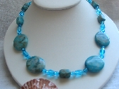 Turquoise Gemstone and Bead Necklace