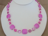 Pink Acrylic Necklace